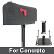 Flexible Mailbox Post Concrete Model