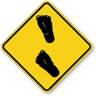 Bigfoot Symbol Caution Sign