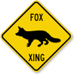 Fox Xing Crossing Sign