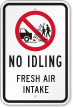 Fresh Air Intake with Graphic No Idling Sign