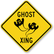 Ghost Xing Symbol Crossing Sign