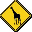 Giraffe Crossing Sign