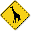 Giraffe Crossing Symbol Sign