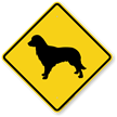Golden Retriever Symbol Guard Dog Sign