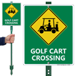 Golf Carts Crossing Sign