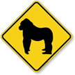 Gorilla Crossing Sign