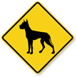 Great Dane Symbol Guard Dog Sign