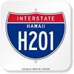 Hawaii Interstate H-201 Sign