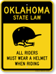 Helmet Law Sign For Oklahoma