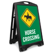 Horse Crossing Sidewalk Sign
