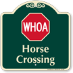Horse Crossing Signature Sign