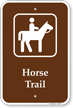 Horse Trail Sign - Campground Sign, Park Sign & Guide Sign
