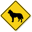 Husky Dog Symbol Crossing Sign