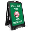 Idle-Free Zone, Turn Engine Off Portable Sidewalk Sign