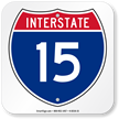 Interstate 15 (I-15)Sign