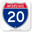 Interstate 20 (I-20)Sign