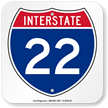 Interstate 22 (I-22)Sign