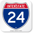 Interstate 24 (I-24)Sign