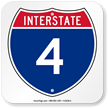 Interstate 4 (I-4)Sign