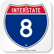 Interstate 8 (I-8)Sign