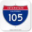 California Interstate 105 Sign