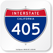California Interstate 405 Sign