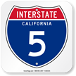 California Interstate 5 Sign