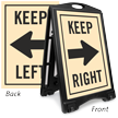 Keep Left Right Sidewalk Sign Kit