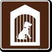 Kennel Symbol Sign For Campsite