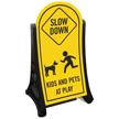 Kids Pets At Play Slow Down Sign Kit