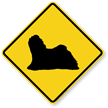 Lhasa Apso Dog Symbol Crossing Sign