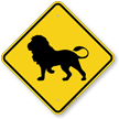 Lion Crossing Sign
