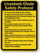 Livestock Chute Safety Protocol Sign