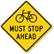 Must Stop Ahead Traffic Rules Sign