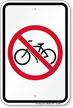 No Bicycle Symbol Sign