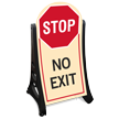 No Exit Stop Sidewalk Sign Kit