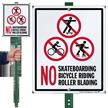 No Skateboarding No Bicycle Riding Roller Blading Sign