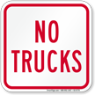 No Trucks On Driveway Sign