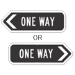 One Way Directional Sign
