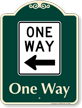 One Way Signature Sign, Left Arrow