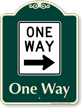 One Way Signature Sign, Right Arrow