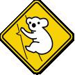 Koala crossing Sign