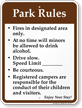 Park Rules, Speed Limit Campground Rules Sign