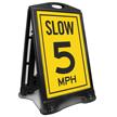 Parking Lot Speed 5 Mph Sidewalk Sign
