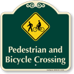 Pedestrian and Bicycle Crossing Signature Sign