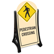 Pedestrian Crossing Portable A-Frame Sidewalk Sign Kit