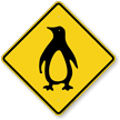 Penguin Crossing Symbol Sign