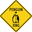 Penguin Xing Diamond Crossing Sign