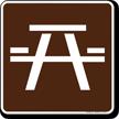 Picnic Area Symbol Sign For Campsite