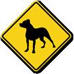 Pit Bull Symbol Guard Dog Sign